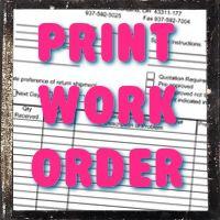 Print a Work Order